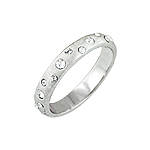 Sterling Silver Etoile CZ Band