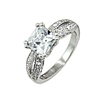 Sterling Silver Princess CZ Ring