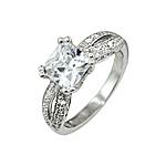 Sterling Silver Princess CZ Ring