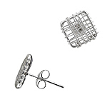 Sterling Silver Square Wire Stud Earrings