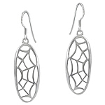 Sterling Silver Cobweb Dangle Earrings