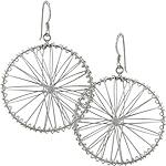 """Sterling Silver """"Wheel"""" Wire Dangle Earrings"""