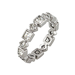 Sterling Silver Princess CZ Eternity Stackable Band