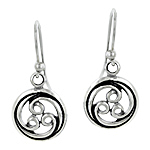 Sterling Silver Encircled Vines Dangle Earrings