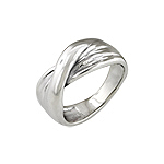 Sterling Silver Ribbon Crossover Ring