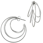 Sterling Silver Five Circles Hoop Earrings