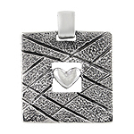 Sterling Silver Framed Heart Pendant
