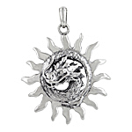 Sterling Silver Fiery Dragon Pendant