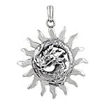 Sterling Silver Fiery Dragon Pendant