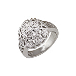 Sterling Silver Dome Anniversary Ring