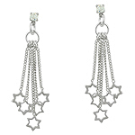 Sterling Silver Cascading Stars Stud Earrings