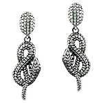 Sterling Silver Coiling Snake Stud Earrings