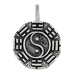 Sterling Silver Yin and Yang Pendant