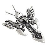 Sterling Silver Eagle Dagger Biker Style Pendant