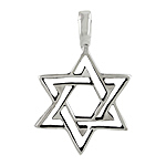 Sterling Silver Star of David Cut-Out Pendant