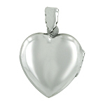Sterling Silver Engravable Heart Locket Pendant