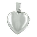 Sterling Silver Engravable Heart Locket Pendant
