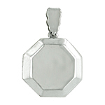 Sterling Silver Engravable Octagon Locket Pendant