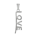"Sterling Silver Underlined ""Love"" Pendant"