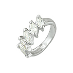 Sterling Silver Five Marquise CZ Ring