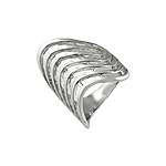 Sterling Silver Multi Wave Ring