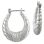 Sterling Silver Rope Hollow Hoop Earrings