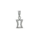 Sterling Silver Gemini Zodiac Symbol Pendant