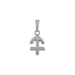Sterling Silver Sagittarius Zodiac Symbol Pendant