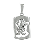 Sterling Silver Chinese Calendar Year of the Rat Pendant
