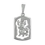 Sterling Silver Chinese Calendar Year of the Ox Pendant