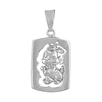 Sterling Silver Chinese Calendar Year of the Rabbit Pendant
