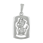 Sterling Silver Chinese Calendar Year of the Horse Pendant