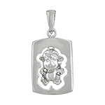 Sterling Silver Chinese Calendar Year of the Monkey Pendant