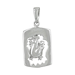 Sterling Silver Chinese Calendar Year of the Rooster Pendant