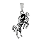 Sterling Silver The Ram Zodiac Sign Pendant