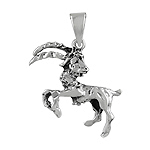 Sterling Silver The Sea-Goat Zodiac Sign Pendant