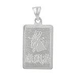 Sterling Silver Capricorn-Sea Goat Zodiac Symbol Tag Pendant