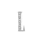 "Sterling Silver Pave CZ ""L"" Pendant"