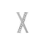 "Sterling Silver Pave CZ ""X"" Pendant"