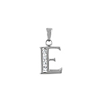 "Sterling Silver ""E"" Pendant"