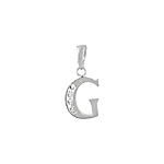 "Sterling Silver ""G"" Pendant"