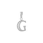 "Sterling Silver ""G"" Pendant"