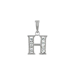 "Sterling Silver ""H"" Pendant"