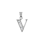 "Sterling Silver ""V"" Pendant"