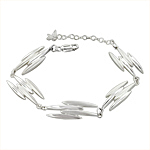Sterling Silver Four Petal Links Bracelet