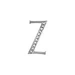 """Sterling Silver Pave CZ """"Z"""" Pendant"""