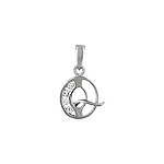 "Sterling Silver ""Q"" Pendant"