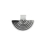 Sterling Silver Ribbed Half-Circle Pendant
