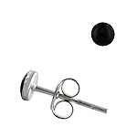 Sterling Silver 4mm Black Onyx Stud Earrings