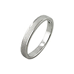 Sterling Silver 3mm Matte Finish Band